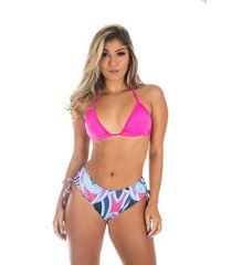biquíni sunquini galvic  moda praia top liso rosa