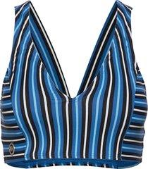crop top bikinitop blauw michael kors swimwear