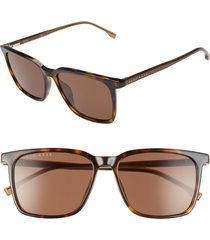 men's boss 1086/s 56mm sunglasses - dark havana