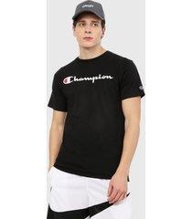 camiseta negro-blanco champion classic graphic tee