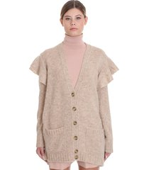 red valentino cardigan in beige wool