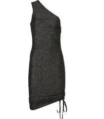 vestido john john birkin curto malha preto feminino (preto, gg)