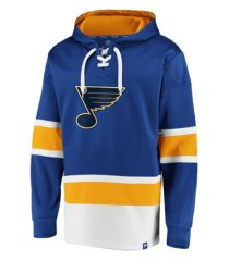 majestic st. louis blues men's power play lace up hoodie