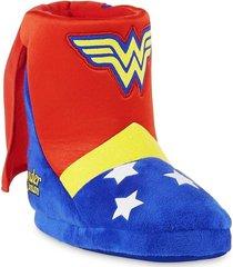 wonder woman dc plush boot costume slippers w/ cape sz. 9/10, 11/12, 13/1 or 2/3