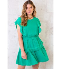 marant linnen dress bright green