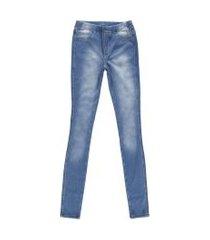 calça jeans moletom feminina crawling jegging azul