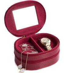 bey-berk lizard 2 level jewelry case with mirror
