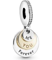 """charm pendente """"you & me forever"""" (você & eu para sempre)"""