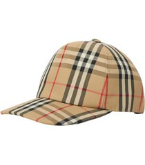 burberry vintage check baseball cap, size small in archive beige at nordstrom