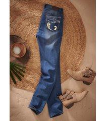 jeans elasticizzati straight (blu) - john baner jeanswear