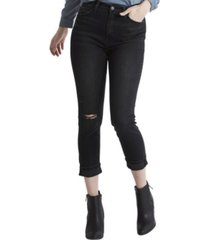 flying monkey super high rise cuffed comfort mom jeans