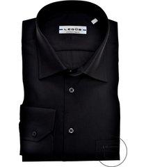 ledub overhemd zwart regular fit