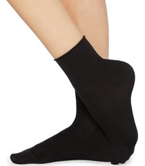 calzedonia - light cotton socks with comfort cuff, 36-38, black, women