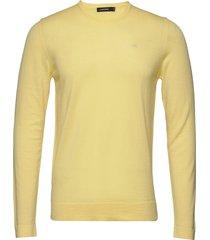 newman-perfect merino stickad tröja m. rund krage gul j. lindeberg