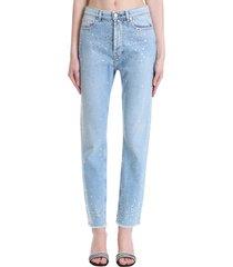 alexandre vauthier jeans in cyan denim