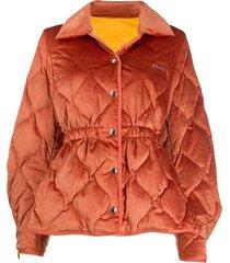 aalto padded corduroy jacket - orange