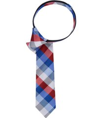 tommy hilfiger buffalo grid zipper tie, big boys