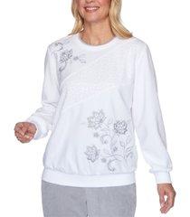 alfred dunner lake geneva embellished sweatshirt