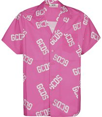 gcds all-over logo print shirt