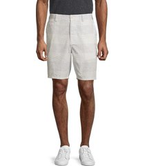 french connection men's slub striped shorts - dusty blue - size 34