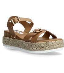 cam sandal sandaletter expadrilles låga brun steve madden