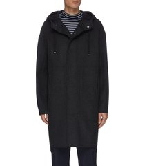 'dutton df cool' hooded cashmere wool blend long coat