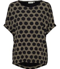 delia t-shirts & tops short-sleeved multi/mönstrad masai