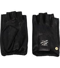 karl lagerfeld k/autograph fingerless gloves - black