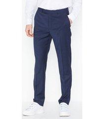 topman premium navy slim check trousers byxor navy blue