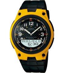reloj casio aw 80 goma telememo 30 sport -amarillo