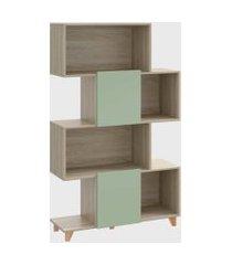 estante 4 andares aveiro/verde be mobiliário