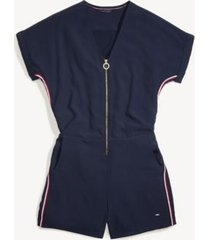 tommy hilfiger women's adaptive solid romper masters navy - 18