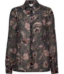 geo shirt blouse lange mouwen zwart second female