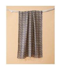 lenço em poliéster e viscose - lenço manhattan cor: azul - tamanho: único