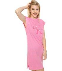 vestido rosa calvin klein doon true icon dress