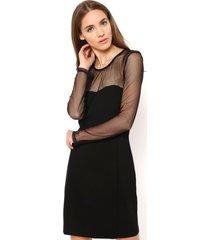 vestido con gasa negro gouache