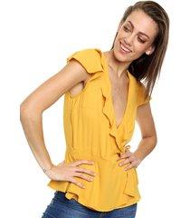blusa amarilla inedita