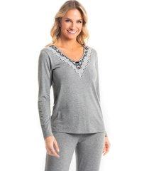 pijama longo pérola