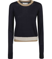 maison margiela rear logo asymmetric sweater