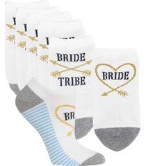 hot sox women's 6-pk. bride tribe no-show socks