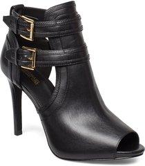 blaze open toe bootie shoes boots ankle boots ankle boot - heel svart michael kors shoes