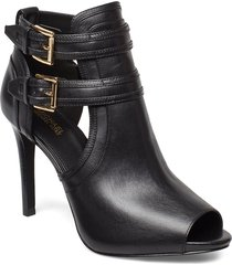 blaze open toe bootie shoes boots ankle boots ankle boots with heel svart michael kors shoes