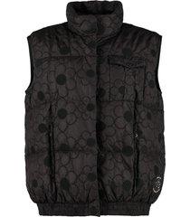 moncler floral puffer vest