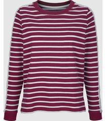 sweatshirt dress in fuchsia/benvit