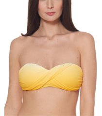 bleu by rod beattie ombre twist bandeau bikini top women's swimsuit