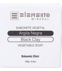 argila negra elemento mineral - sabonete vegetal 100g