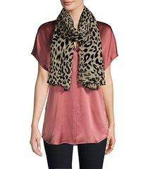 leopard-burnout scarf