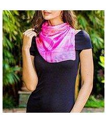 silk scarf, 'rose plaid' (thailand)