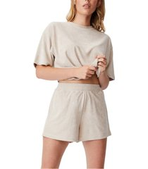women's terry towelling shorts