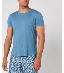 orlebar brown men's ob-t tailored fit crew neck t-shirt - blue haze - xl